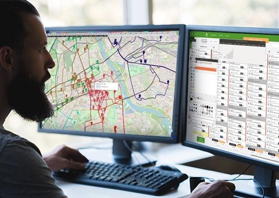 Optymalizacja tras z widokiem mapy oraz planera