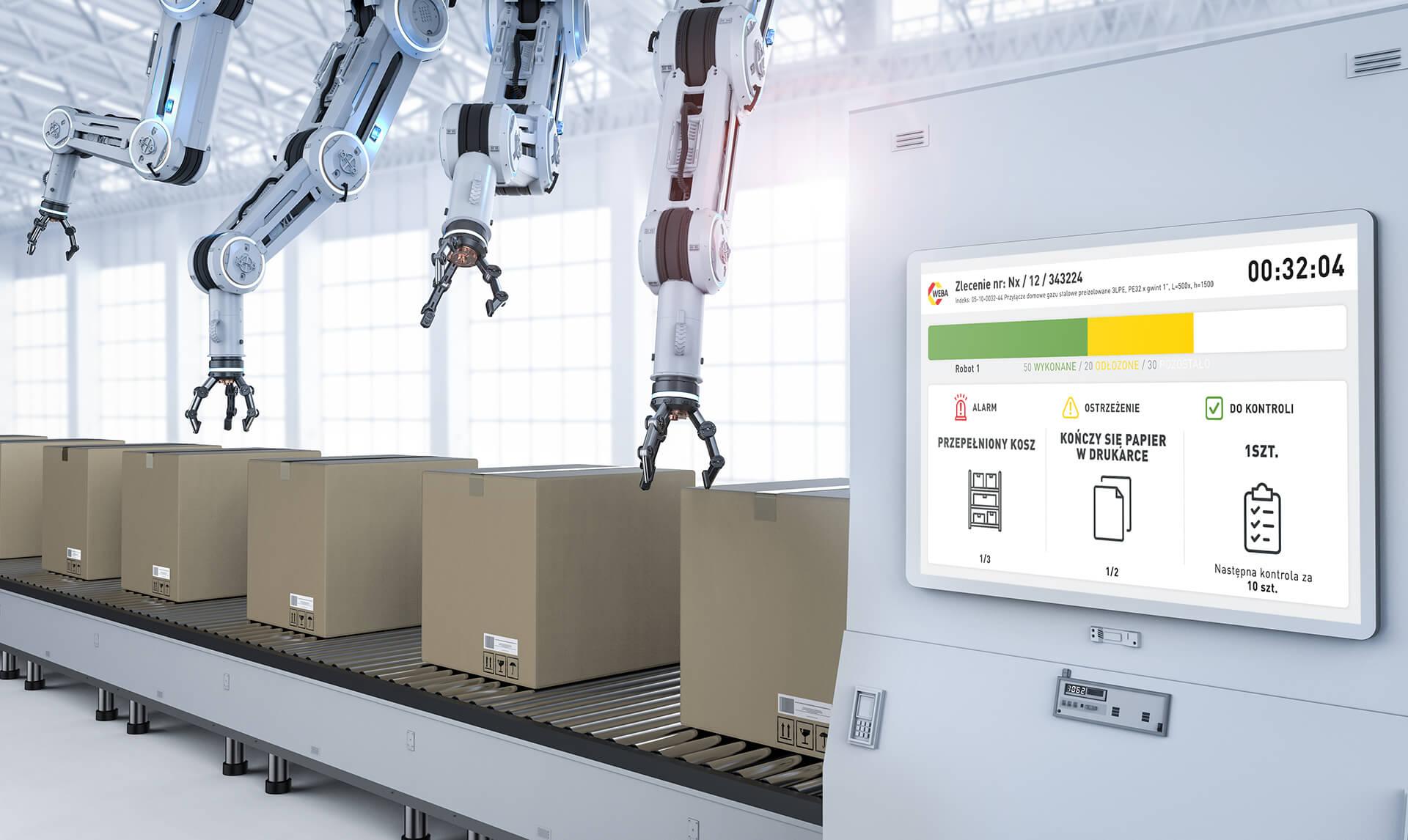 Stanowisko produkcyjne roboty