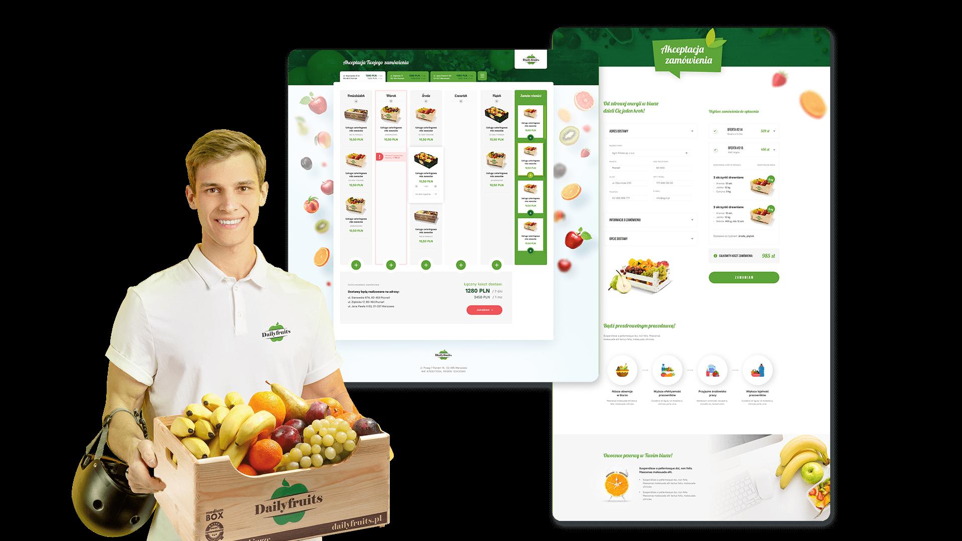 Platfroma B2B Dailyfruits - tworzenie harmonogramu zamówień