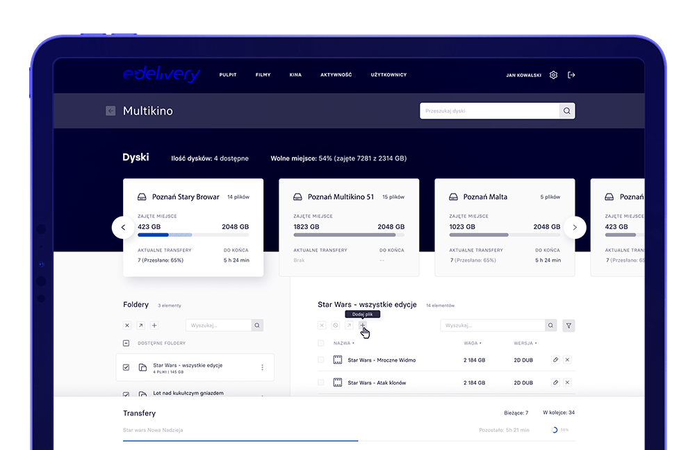 Panel użytkownika e-delivery