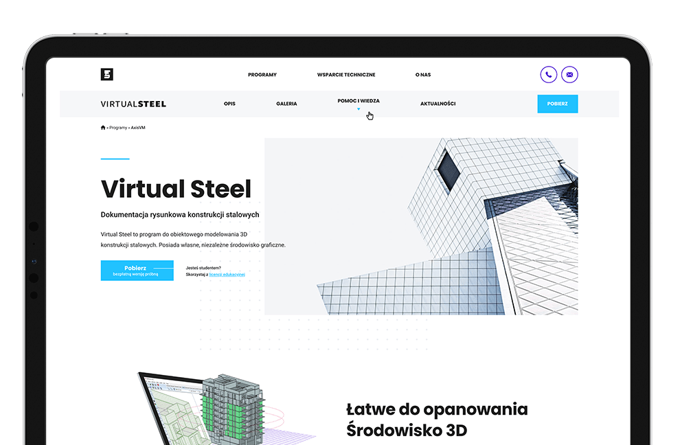 Dokumentacja rysunkowa konstrukcji stalowych Virtual Steel