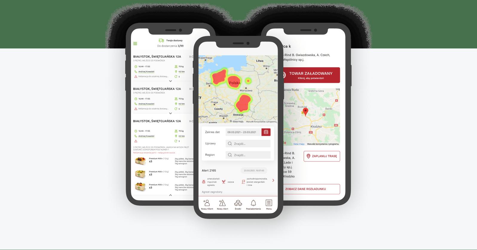 Wizualizacje aplikacji w ramach x-road dla transportu i e-commerce